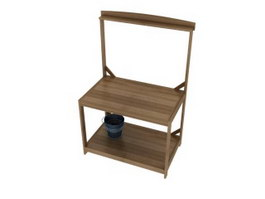 Antique wash basin stand 3d preview
