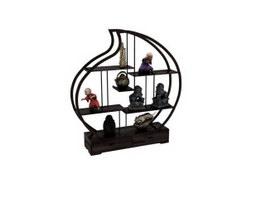 Home display rack curio shelves 3d preview