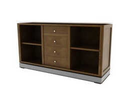Living room side cabinet 3d preview