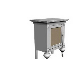 Antique Corner Cabinet 3d preview