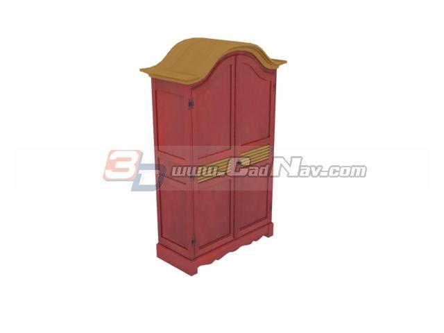Antique side cabinet 3d rendering