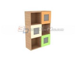 Children Wooden Play Cupboard 3d preview