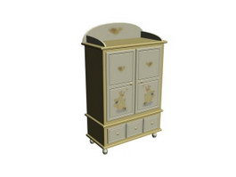 Children Cabinet Drawer Wall Cabinet 3d preview