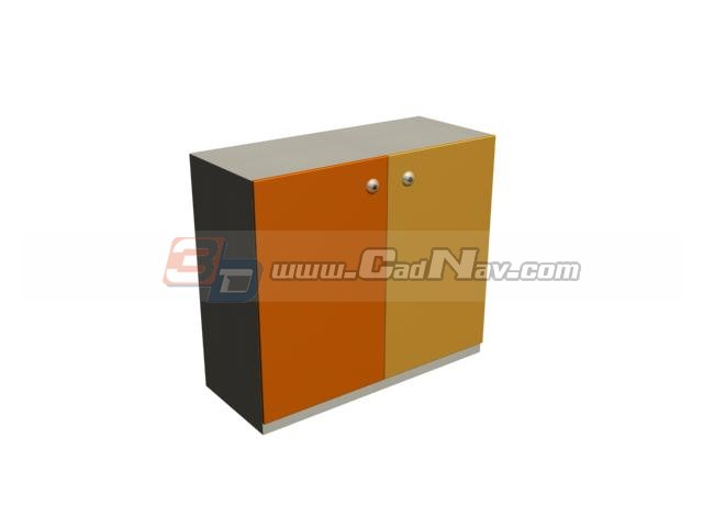 Colorful kid toys cabinet 3d rendering