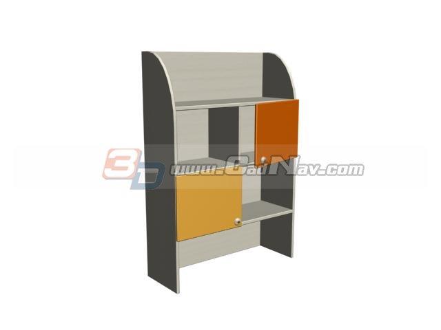Children Wall Cabinet Storage shelf 3d rendering
