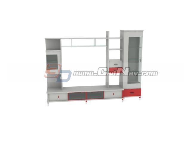 TV Wall Units 3d rendering
