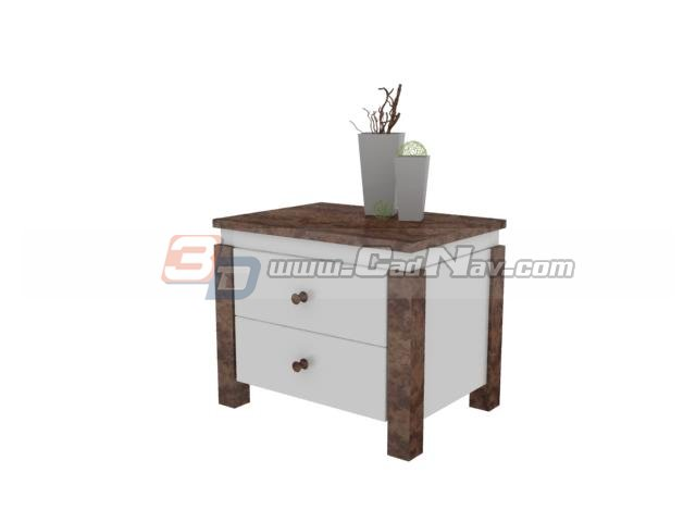 Living room decorative corner cabinet 3d rendering