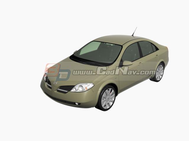 Nissan Primera Infiniti G20 3d rendering