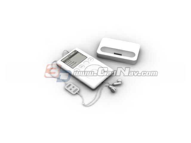 Apple iPod classic 3d rendering
