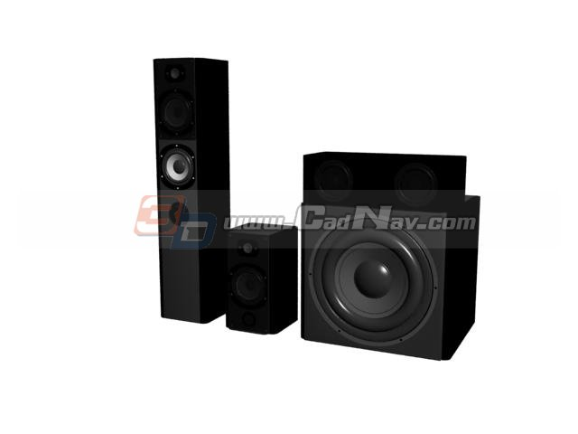 Stage sound system 3d rendering