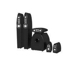 Disco speaker sound system 3d model preview