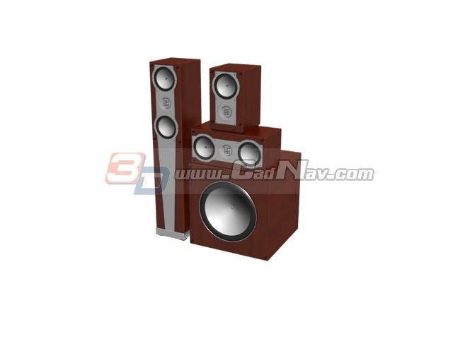 Home Theater Audio System 3d rendering