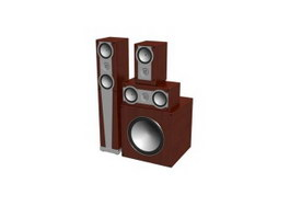 Home Theater Audio System 3d preview