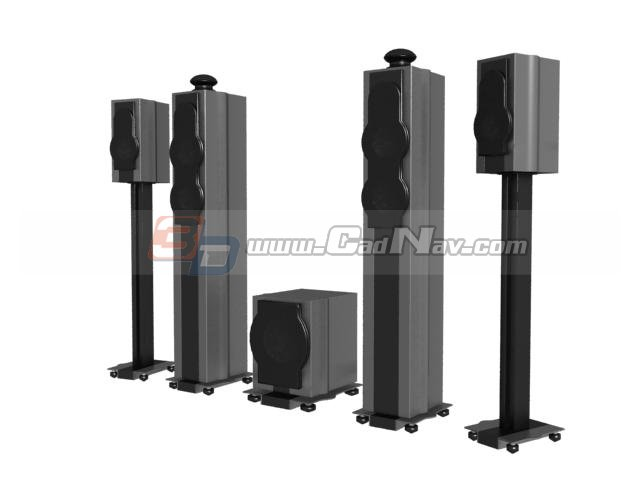 Digital sound box speaker 3d rendering