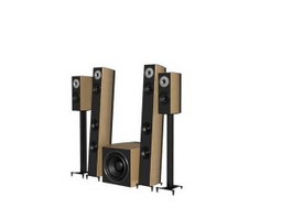 Active audio speaker system 3d preview