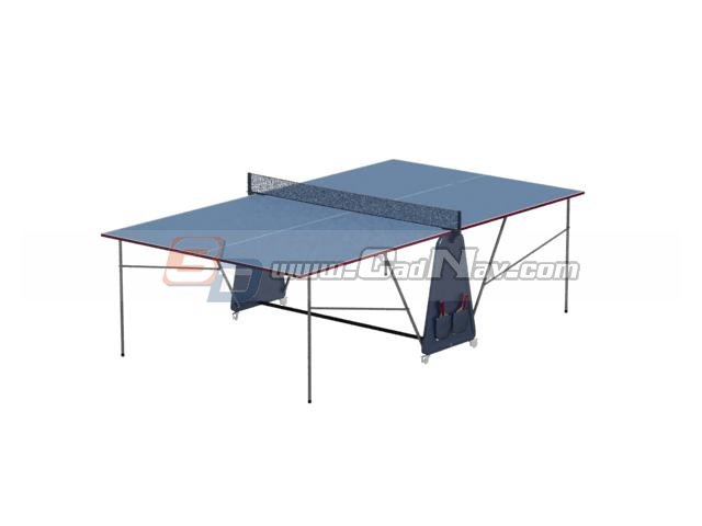 Folding Ping Pong Table 3d rendering