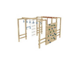 Outdoor fitness climbing frame 3d preview