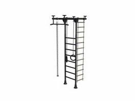 Steel climbing frame 3d model preview