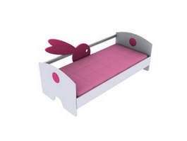Cartoon kid bed 3d model preview