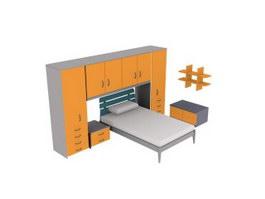 Children Furniture Sets 3d model preview