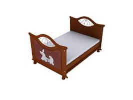 Preschool Kids Bed 3d model preview