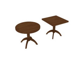 Living Room corner table 3d preview
