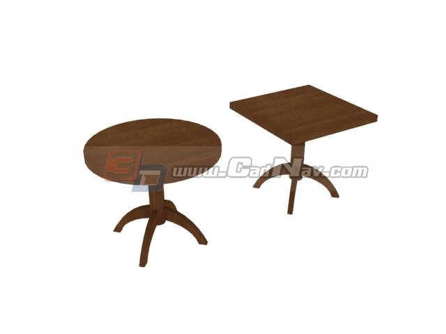 Living Room corner table 3d rendering