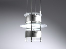 Metal pendant light 3d model preview