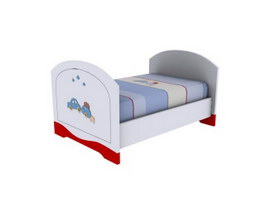 Children wood bed 3d preview