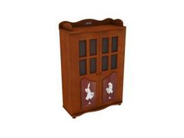 Children room storage cabinet 3d model preview