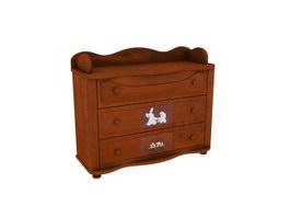 Children storage cabinet 3d preview