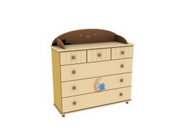 Kids storage cabinet 3d preview