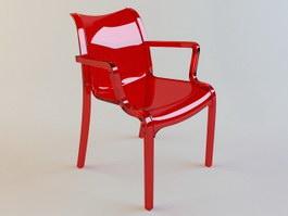 Garden Plastic Leisure Chair 3d preview