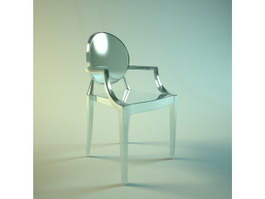 Organic arm chair 3d model preview