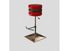 Guitar stool chair 3d model preview