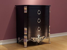 Europe Antique Wine Cabinet 3d preview