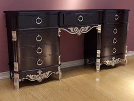 Home Bar Antique Cabinet 3d preview