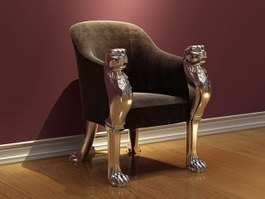 Antique king chair 3d preview