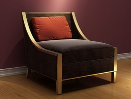 Reclining sofa chair 3d model preview
