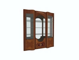 Carved wine cabinet showcase 3d preview