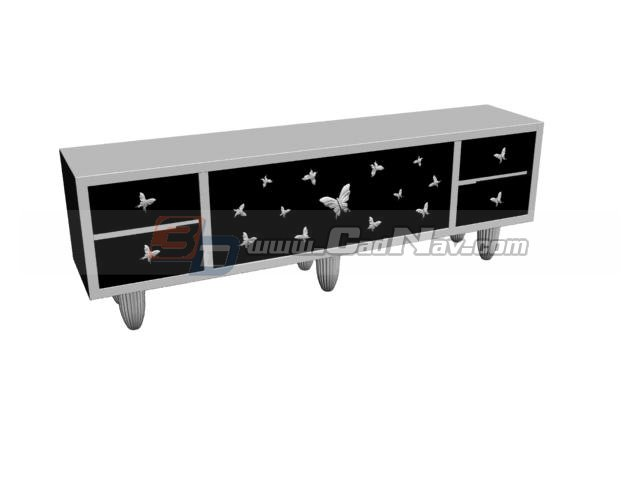 Modern Design TV Cabinet 3d rendering