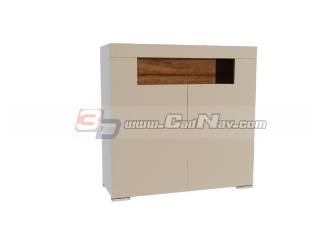 Small side cabinet for home 3d rendering