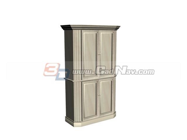 Swing Door Locker File Cabinet 3d rendering