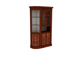 Kitchen cabinet wine rack 3d preview