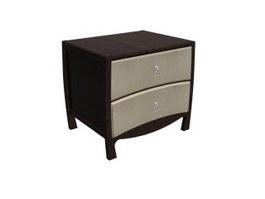 Antique furniture Bedside cabinet for hotel 3d model preview