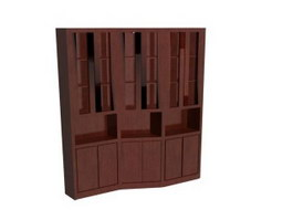 Office Storage Wall Filing Cabinet 3d preview