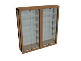Glass cabinet display cases 3d preview
