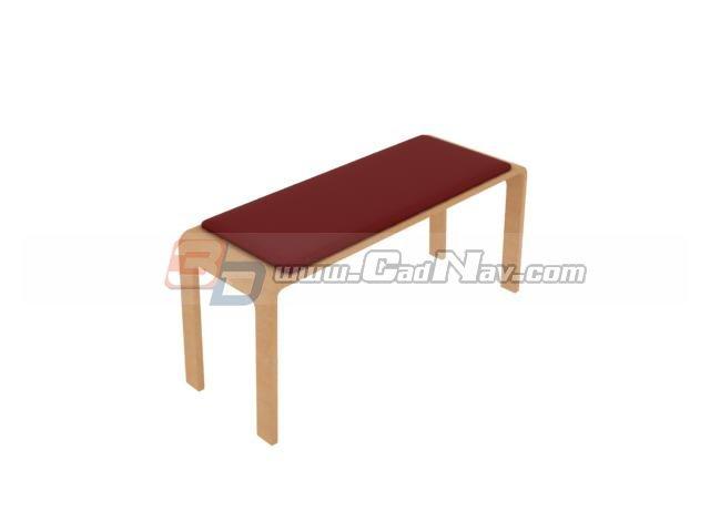 Bedroom dresser stool 3d rendering
