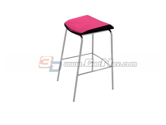 Saddle seat stool 3d rendering