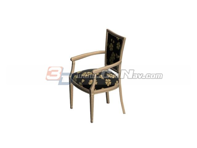 Upholstery fabric dining chair 3d rendering